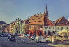 Small Square, Sibiu, Romania Royalty Free Stock Images