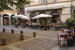 A small square in Vieux Lyon Royalty Free Stock Photo