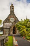 The small St Augustines Church of Ireland building on the walls of the maiden city of Londonderry in Northern Ireland. Royalty Free Stock Photos