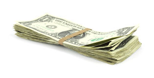 Small stack of cash Royalty Free Stock Photo