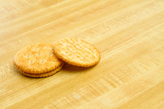 Small stack of crackers Royalty Free Stock Photos