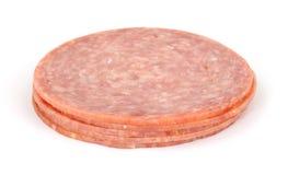 Small stack of genoa salami Royalty Free Stock Image