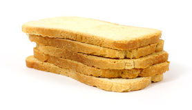 Small stack of melba toast Royalty Free Stock Photo