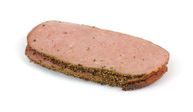 Small stack of turkey pastrami Stock Photography