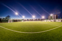 Small stadium in the night Royalty Free Stock Images