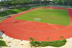 Small Stadium With Running track Royalty Free Stock Photos