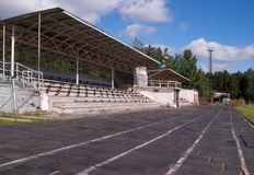 Small stadium with stands Stock Image
