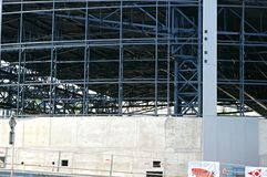 Small stadium under construction Royalty Free Stock Images