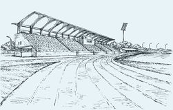 Small Stadium. Vector sketch Stock Photos