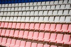 Small stadium white empty poor stock photography