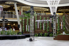 Small stage Department store atrium Stock Photo