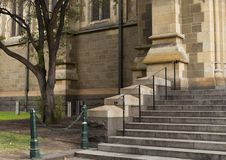 Small Stairway Leading up to Church royalty free stock images