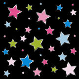 Small stars background Stock Photos