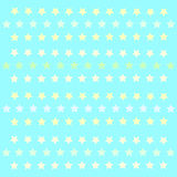 Small stars patern polkastars. Seamless stars pattern of small colored polka stars gradient, on a blue azure background for arts, crafts, fabrics, decorating stock illustration
