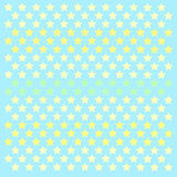 Small stars patern polkastars. Seamless stars pattern of small colored polka stars gradient, on a blue background for arts, crafts, fabrics, decorating, albums royalty free illustration