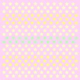 Small stars patern polkastars. Seamless stars pattern of small colored polka stars gradient, on a soft pink pastel background for arts, crafts, fabrics stock illustration