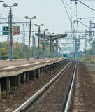 Small station of the suburban train near Moscow Royalty Free Stock Image