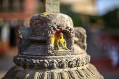 Small statue of Buddha carved in the stone. Small statue of Buddha carved in the stone royalty free stock image