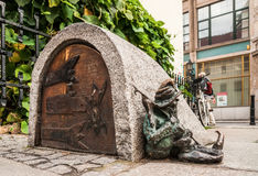 Small statue of a gnome in Wroclaw, Poland Royalty Free Stock Photography
