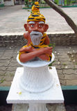 Small statue of an old yoga man Royalty Free Stock Images