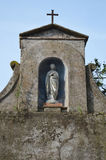 Small Statue of Our Lady. This housed small statue sits in the grounds of San' Anselmo, Rome.  Photo taken April 2015 Royalty Free Stock Photos