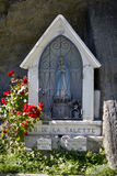 Small statue of the Virgin in France Stock Image