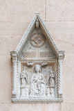 Small statue in the window, Venice, Italy, summer Stock Photos