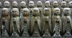 Small statues at Hasedera. Small statues at Hasedera, Kamakura, Japan Stock Photos