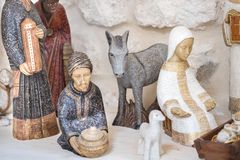 Small statues of Nativity Scene for sale stock image