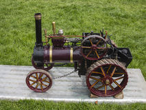 Small steam engine. Small scale steam traction engine Royalty Free Stock Image