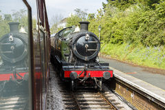 Small Steam Train at Station Royalty Free Stock Photography