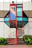 Small steel spiral staircase Royalty Free Stock Images