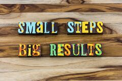 Free Small Steps Create Big Results Plan Prepare Perform Accomplish Royalty Free Stock Images - 175653299