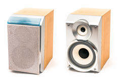 Small stereo speakers Royalty Free Stock Photo