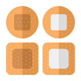 Small Sticking Plaster Flat Icon on White. First aid plasters flat icon, isolated on white background. Eps file available Stock Photography