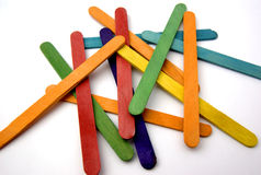 Small Sticks. Photography of small sticks of ice cream colored for school works Stock Photos