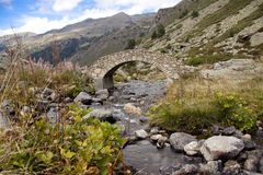 Small stone bridge Stock Photo