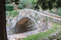 Small stone bridge Stock Images