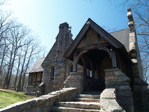 Small stone chapel. Exterior shot Stock Image