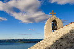 Small stone chappel in the Mediterranean, island of Brac, Croati Royalty Free Stock Photo