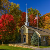 Small stone church in Blue Ridge Mtns. Stock Photography