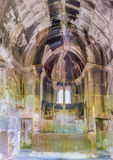 In small stone church Royalty Free Stock Photo