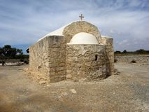 Small  stone church in the mountains of Cyprus Stock Image
