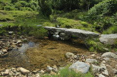 Small stone Clapper Bridge Stock Photo