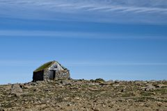 Small stone cottage. In North West Iceland Royalty Free Stock Image
