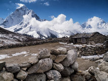 Small Stone Farmhouse in the Himalayas Royalty Free Stock Photography