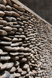 Small stone lined walls background Stock Photo