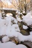 Small stone made bridge Royalty Free Stock Photography