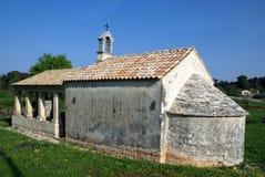 Small stone made chapel in Rovinj,Croatia Royalty Free Stock Photo