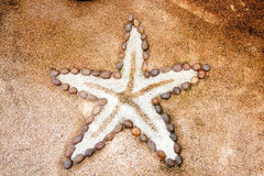 Small stone made in Starfish style Royalty Free Stock Image